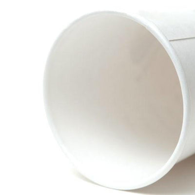 PAPER HOT CUPS (8 OZ.) CUSTOMIZABLE PLAIN WHITE - CarryOut Supplies