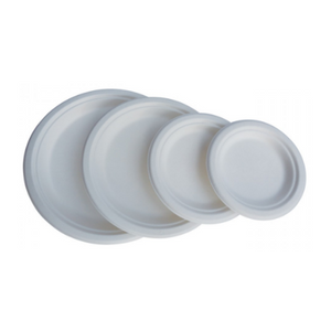 "Eco-Friendly Bagasse 9"" Round Plate - 500 pcs - (Item: GP-09) - CarryOut Supplies"