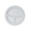"Eco-Friendly Bagasse 10""3 Compartment Plate - 500 pcs - (Item: GP-10-3) - CarryOut Supplies"