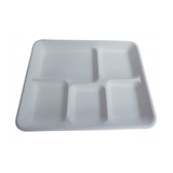 Eco-Friendly Bagasse 5-Compartment Tray - 400 pcs - (Item: GT-01)