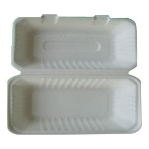 "Eco-Friendly Bagasse 9""X6""X3"" Lunch Box - 250 pcs - (Item: GC-96-1) - CarryOut Supplies"