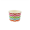 4 OZ CHEVRON PRINT RAINBOW YOGURT PAPER CUP - 1,000 / CS - (Item: 20489) - CarryOut Supplies