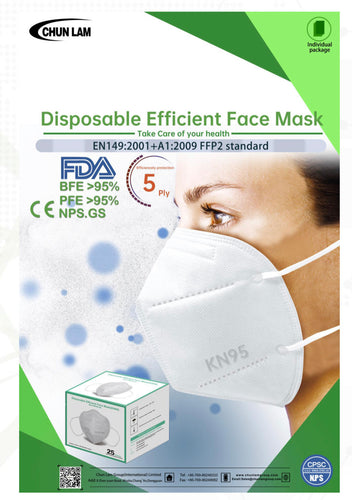 CL 5-Ply KN95 Face Mask (BOX of 25pcs)
