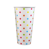 24 OZ PAPER SODA CUPS, POLKA DOT RAINBOW - 1,000/CS - (Item: 3424-1) - CarryOut Supplies