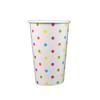 16 OZ PAPER SODA CUPS, POLKA DOT RAINBOW - 1,000/CS - (Item: 3416-1) - CarryOut Supplies