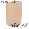 #735 TO GO PAPER BAGS, BROWN - 500PC - CarryOut Supplies