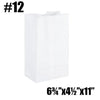 #12 TO GO PAPER BAGS, WHITE - 500 PC / CS - CarryOut Supplies