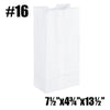 #16 TO GO PAPER BAGS, WHITE - 500PC / CS - CarryOut Supplies