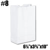 #8 TO GO PAPER BAGS, WHITE - 500 PC / CS - CarryOut Supplies