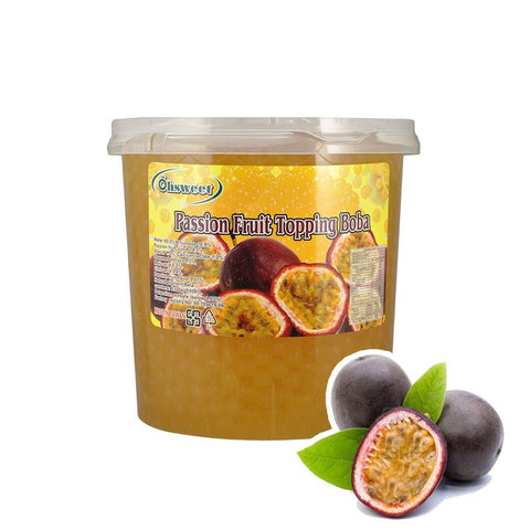 POPPING BOBA - PASSION FRUIT - (Item: 6054)