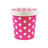 16 OZ. ICE CREAM CONTAINER WITH PAPER LID, POLKA DOT PINK - 250 SETS/CS - CarryOut Supplies