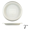 "7"" BIODEGRADABLE ROUND PLATE W/ VERTICAL STRIPE, BEIGE - 1,000 / CS - (Item: 	5312) - CarryOut Supplies"