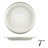 "7"" BIODEGRADABLE ROUND PLATE W/ VERTICAL STRIPE, BEIGE - 1,000 / CS"