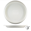 "9"" BIODEGRADABLE ROUND PLATE W/ VERTICAL STRIPE, BEIGE - 500 / CS - (Item: 5314) - CarryOut Supplies"