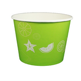 32 OZ. PAPER YOGURT CUPS, FRUIT PATTERN GREEN - 600 / CS - (Item: 23819)