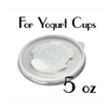 05 oz. Flat Lids for Frozen Yogurt Cups | Yogurt Cup Lids | Carryoutsupplies.com (Item: YCFL-05) - CarryOut Supplies