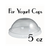 05 oz. Plastic Dome Lids | Yogurt Cup Lids | Carryoutsupplies.com (Item: ACYCDL05K) - CarryOut Supplies