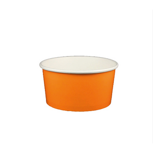 06 OZ. PAPER YOGURT CUPS, SOLID COLOR ORANGE - 1,000 / CS - (Item: 65824) - CarryOut Supplies