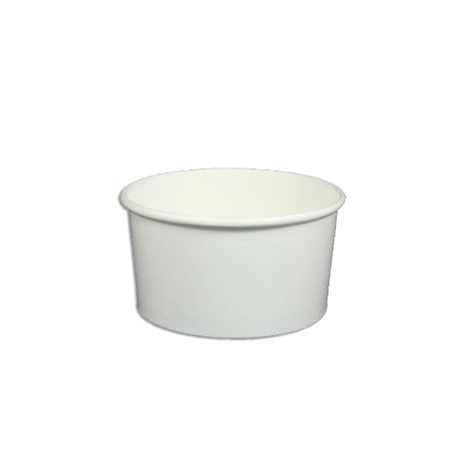 06 OZ. PAPER YOGURT CUPS, SOLID COLOR WHITE - 1,000 / CS - (Item: 13822) - CarryOut Supplies