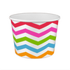 20 OZ. PAPER YOGURT CUPS, POLKA DOT RAINBOW - 600 / CS - (Item: 22069) - CarryOut Supplies