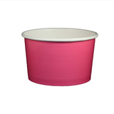 20 OZ. PAPER YOGURT CUPS, SOLID COLOR PINK - 600 / CS - (Item: 23816)
