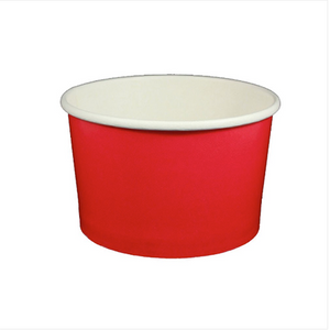 20 OZ. PAPER YOGURT CUPS, SOLID COLOR RED - 600 / CS - (Item: 23813) - CarryOut Supplies
