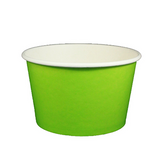 24 OZ. PAPER YOGURT CUPS, SOLID COLOR LIME GREEN - 600 / CS - (Item: 23835)
