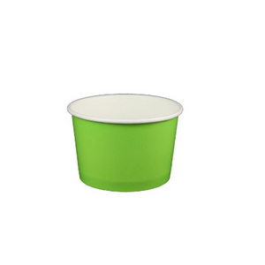 4 OZ. PAPER YOGURT CUPS - 1000 PCS/CS - SOLID COLORS - CarryOut Supplies