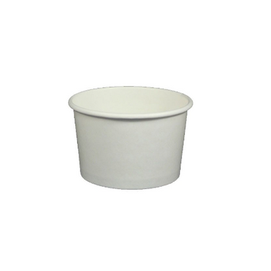 4 OZ. YOGURT CUPS - 1000 PCS/CS - PLAIN WHITE (Item code: PICC004-GK) - CarryOut Supplies