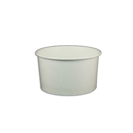 5 OZ. PAPER YOGURT CUPS 1000 PCS/CS - PLAIN WHITE