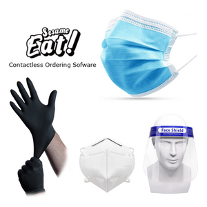 "PPE Restaurant Kit ""Special offer includes: Sesame Eats Contactless Ordering Software"" - CarryOut Supplies"