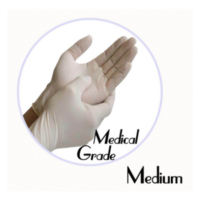 LATEX EXAM POWDER-FREE MULTI PURPOSE GLOVE (WHITE, MEDICAL GRADE) - Medium - 1,000 GLOVES / CS - (Item: 47112) - CarryOut Supplies