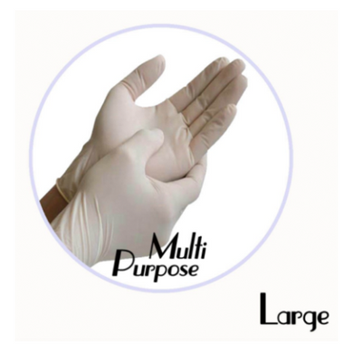 LATEX POWDER-FREE MULTI PURPOSE GLOVE (WHITE) - Large - 1,000 GLOVES / CS - (Item: 48113) - CarryOut Supplies