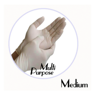 LATEX POWDER-FREE MULTI PURPOSE GLOVE (WHITE) - MEDIUM - 1,000 GLOVES / CS - (Item: 48112) - CarryOut Supplies