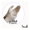 LATEX POWDER-FREE MULTI PURPOSE GLOVE (WHITE)- SMALL - 1,000 GLOVES / CS - (Item: 48111) - CarryOut Supplies