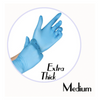 NITRILE GLOVES BLUE POWDER FREE (EXTRA THICK)- MEDIUM - 500 GLOVES / CS - (Item: 4776) - CarryOut Supplies