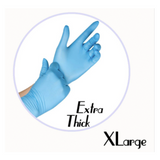 NITRILE GLOVES BLUE POWDER FREE (EXTRA THICK)- X-LARGE - 500 GLOVES / CS