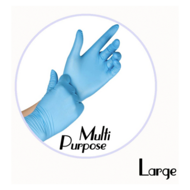 NITRILE GLOVES BLUE POWDER FREE - LARGE - 1,000 GLOVES / CS - (Item: 4773) - CarryOut Supplies