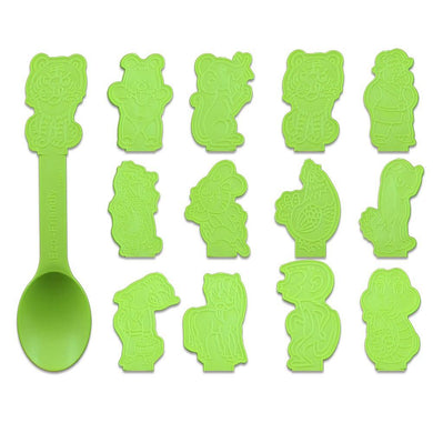 BIODEGRADABLE ZODIAC SPOONS, LIME GREEN - 1,000 / CS - CarryOut Supplies
