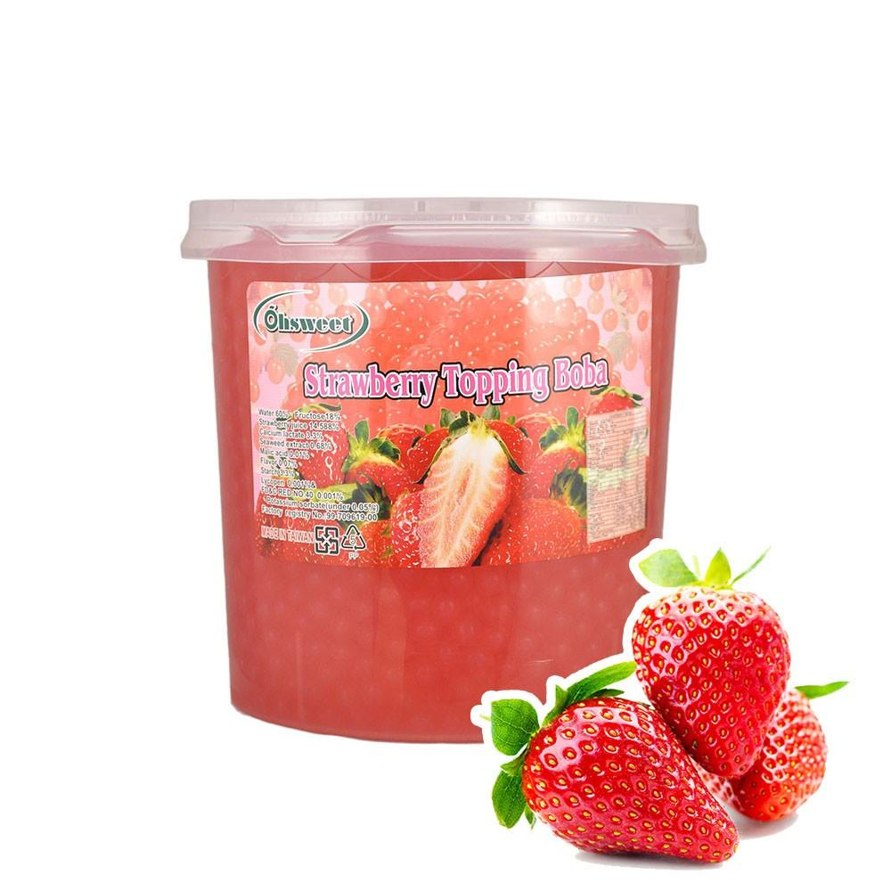 POPPING BOBA - STRAWBERRY - (Item: 6051) [Call For Details] - CarryOut Supplies