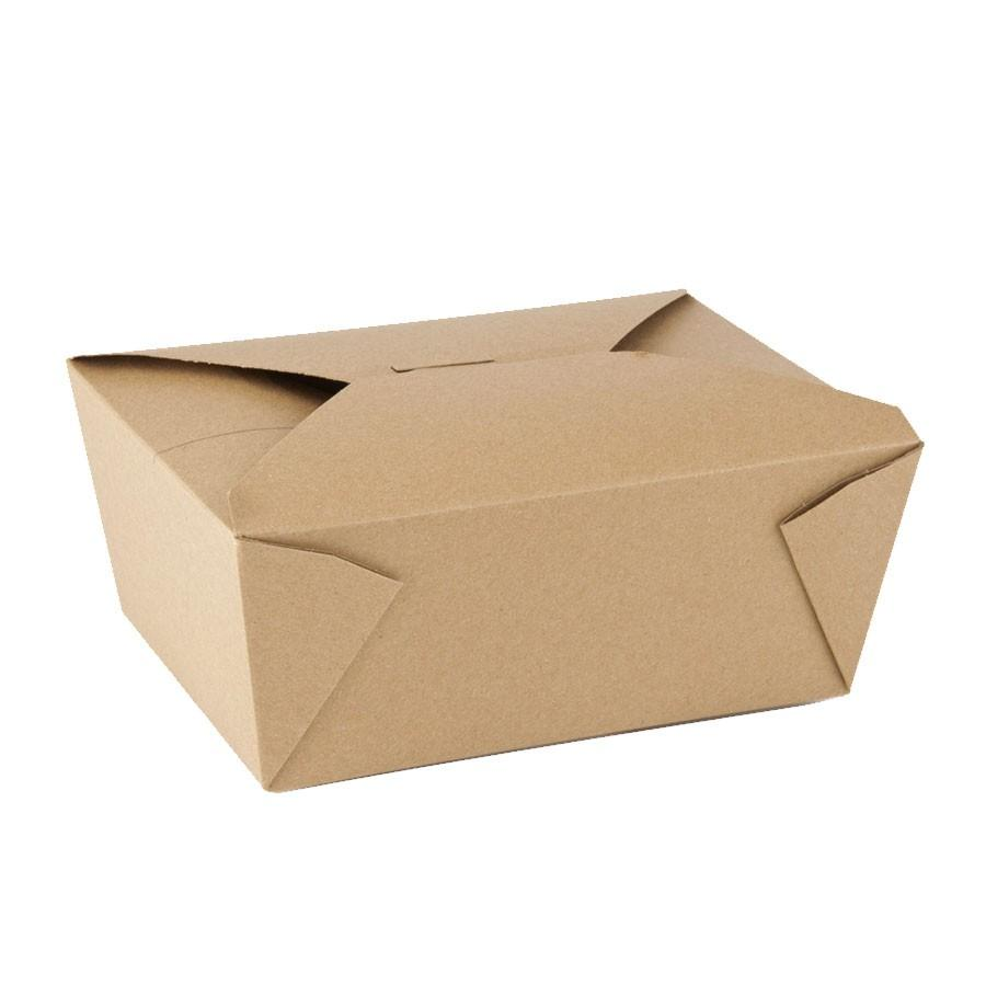 96OZ #4 PAPER E-PAK TAKE-OUT BOX, BROWN - 200/CS - (item code: 8004N) - CarryOut Supplies