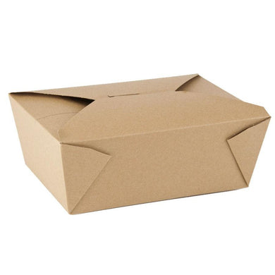 45 OZ. #8 PAPER E - PAK TAKE - OUT BOX, BROWN - 300 PCS/CS - (item code: 8008N) - CarryOut Supplies