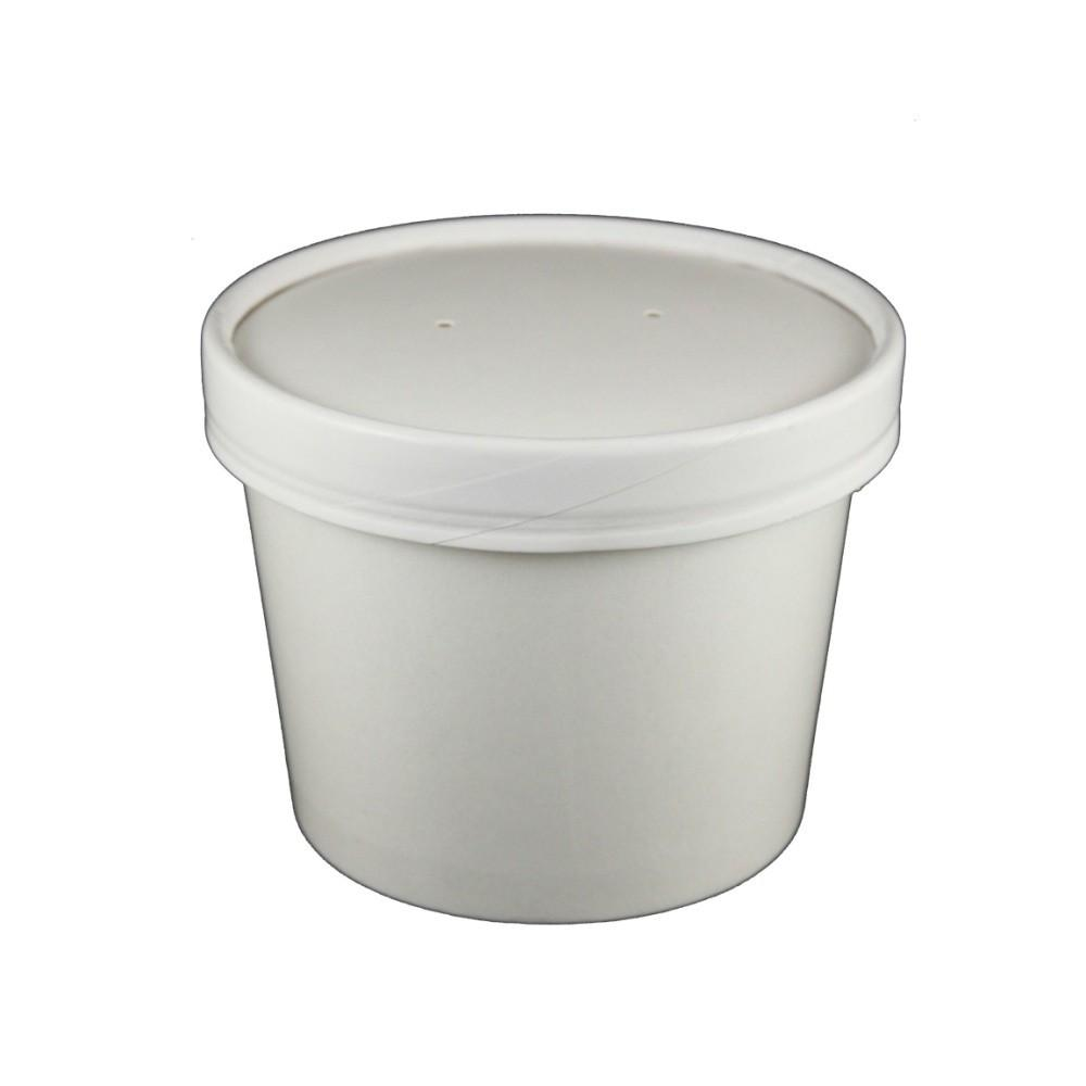 12 OZ. PAPER TO - GO COMBO HOT & COLD CONTAINERS, WHITE - 250 PCS/CS - (Item: 25012) - CarryOut Supplies