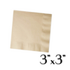 "Wanderlust - COCKTAIL NAPKINS, BROWN, 3""X3"" - 4000 SHEETS / CS - (Item: 4333) - CarryOut Supplies"