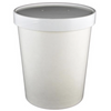 32 OZ. PAPER TO - GO COMBO HOT & COLD CONTAINERS, WHITE - 250 SET/CS - (Item: 25032) - CarryOut Supplies