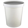 16 OZ. PAPER TO - GO COMBO COLD CONTAINERS, WHITE - 250 SET/CS - (Item: 25030) - CarryOut Supplies