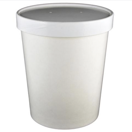 16 OZ PAPER COMBO CONTAINERS W/VENTED LIDS, WHITE - 250 SET/CS - (Item: 25031) - CarryOut Supplies