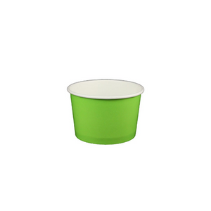 04 OZ. PAPER YOGURT CUPS, SOLID COLOR LIME GREEN - 1,000 / CS - (Item: 55602) - CarryOut Supplies