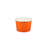 04 OZ. PAPER YOGURT CUPS, SOLID COLOR ORANGE - 1,000 / CS - (Item: 	55603)