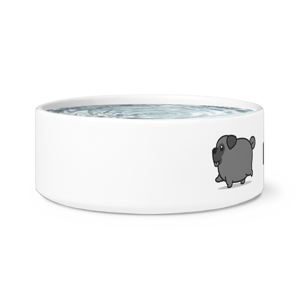 Personalized Black Pug Dog Bowl